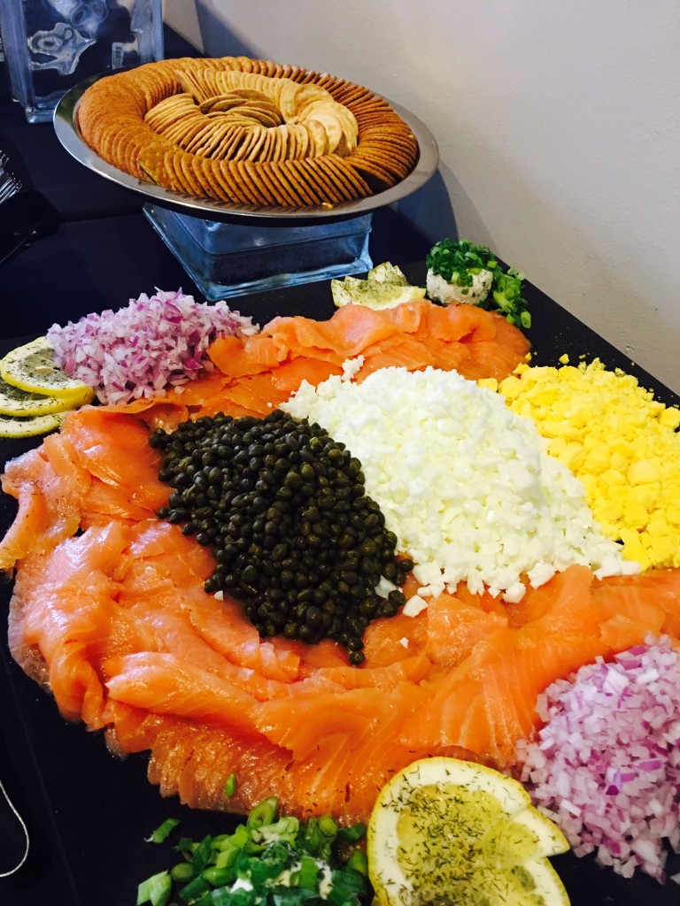 Let Catering by Norris deliver a stunning Lox and garnish display for your next party, wedding, dinner or any social occasion