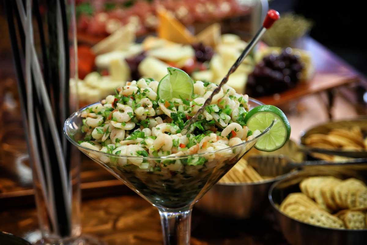Have Catering by Norris add a Shrimp Ceviche display to your next party, wedding, dinner or any social occasion
