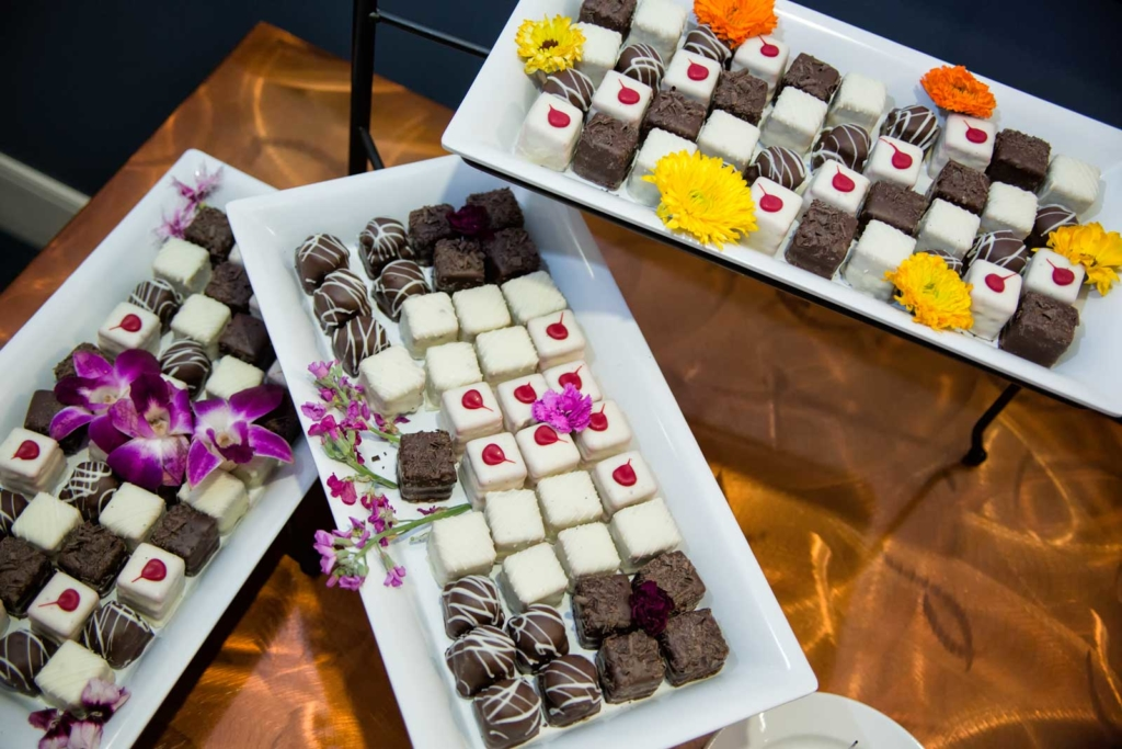 Delicious Petit Fours Display from Catering by Norris
